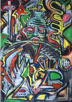 Timothy Archer: La liche 2013 Mixed media on paper  100 x 70 cm