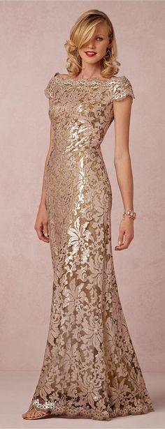 Odette Dress #dress #lace #gold