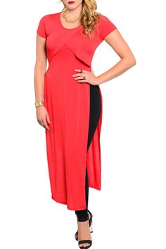 DHStyles Women's Red Plus Size Sexy Trendy Side Split Wrap Front Maxi Dress - 1X #sexytops #clubclothes #sexydresses #fashionablesexydress #sexyshirts #sexyclothes #cocktaildresses #clubwear #cheapsexydresses #clubdresses #cheaptops #partytops #partydress #haltertops #cocktaildresses #partydresses #minidress #nightclubclothes #hotfashion #juniorsclothing #cocktaildress #glamclothing #sexytop #womensclothes #clubbingclothes #juniorsclothes #juniorclothes #trendyclothing #minidresses…