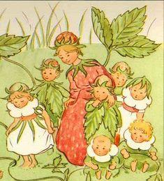 Elsa Beskow Smultron (wild strawberries)