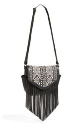 Lulu Print Fringe Crossbody Bag (Juniors)