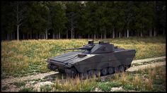 CV90 Tank in Forest Clearing