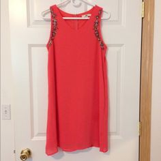 Coral ModCloth Dress Only worn once! It is a great formal, homecoming, or special occasion dress! Originally $70! fits a little larger than a medium. Very comfortable! In great condition. #closetcrush ModCloth Dresses