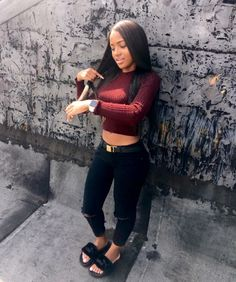 pinterest : @liyaluvs Dope Outfits, School Outfits, Summer Swag Outfits, Fall Outfits, Fashion Outfits, Womens Fashion, Casual Outfits, Summer Outfit, Hair Supplies