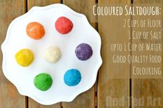 Colour Saltdough Recipe