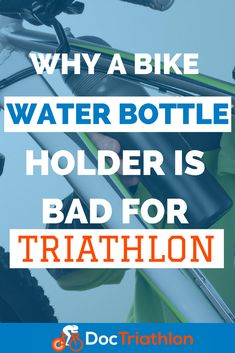 Why a bike water bottle holder is bad for triathlon. Triathlon cycling tips. #triathlon #cycling #bike