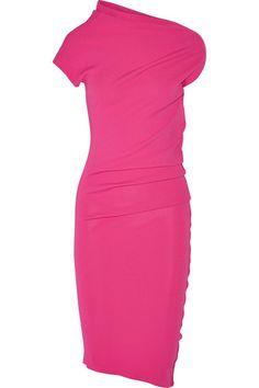 Donna Karan New York | Asymmetric stretch-jersey dress | NET-A-PORTER.COM