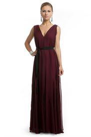 Burgundy Bliss Gown - with a sparkle belt?