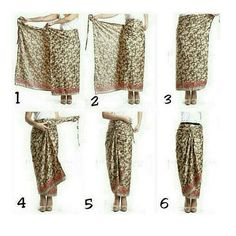 Tie a sarong Kebaya Lace, Kebaya Hijab, Kebaya Dress, Kebaya Muslim, Muslim Fashion, Hijab Fashion, Ethnic Fashion, Model Rok Kebaya, Mode Batik