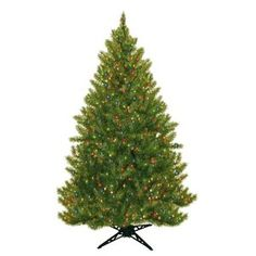 General Foam Plastics Evergreen Fir Prelit Christmas Tree with 450 Multicolored Lights