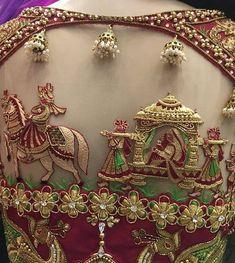 New Model Wedding Blouse Back Designs Buy Online Wedding Saree Blouse Designs, Pattu Saree Blouse Designs, Designer Blouse Patterns, Fancy Blouse Designs, Blouse Neck Designs, Sari Blouse, Sleeve Designs, Blouse Styles, Designer Dresses