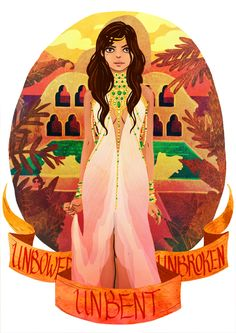 Arianne Martell. Lovely Illustrations That Pay Tribute To The Ladies Of 'Game Of Thrones' - DesignTAXI.com