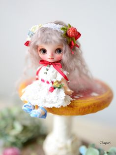 Chapuri doll カスタムプチブライス 野イチゴちゃん キューポッシュ カスタムブライス カスタムドール 創作人形作家 ブライスカスタム本体