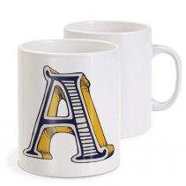 Beber seu café numa caneca com sua inicial... que tal?   istickonline.com