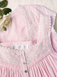 I love light pink dresses Dress Neck Designs, Neck Designs For Suits, Baby Girl Dresses, Baby Dress, Pink Dresses, Night Gown Dress, Cotton Nighties, Nightgown Pattern, Night Dress For Women