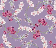 Lilac Orchid fabric by gypsymothdesign on Spoonflower - custom fabric