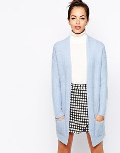 New Look Fluffy Ribbed Cardigan