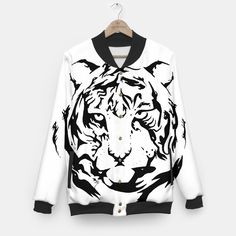 Wild Tiger - Sudadera béisbol/Baseball sweatshirt - Cómprala aquí/Buy it here - https://liveheroes.com/es/product/show/152232 - Diferentes tallas/Different sizes