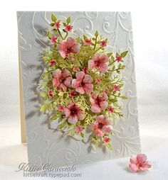Bunch of Blossoms Floral Spray and Tutorial