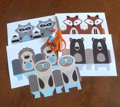 DIY Woodland Animal Gift Bag Templates // by LittleLlamaShoppe