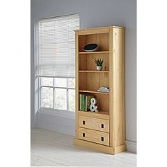 Buy Collection 2 Drawer Tall Wide Bookcase - Solid Pine at Argos.co.uk, visit Argos.co.uk to shop online for Bookcases and shelving units