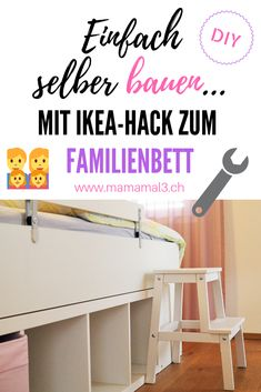 The IKEA Kallax line Storage furniture is a vital section of any home. Stylish and delightfully easy the rack Kallax from Ikea , for example. Ikea Kura Hack, Ikea Kura Bed, Ikea Hacks, Diy Kallax, Family Bed, White Wall Paint, Design Palette, Best Ikea, Farmhouse Style Decorating