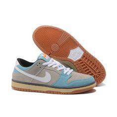 sale retailer a920a 82b1c Outlet Nike SB DUNK LOW TRD Men Shoes Grey White Blue Sale