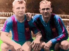 Ladislao Kubala (izqda.) junto a su amigo Alfredo Di Stéfano (der.). Si no hubiera terciado el poder político en su época, el FC Barcelona mítico de Les Cinc Copes hubiera podido ser el mejor equipo de la historia hace muchas décadas.