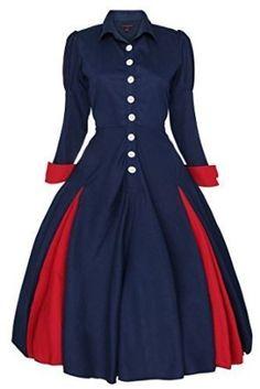 New Ladies Edwardian Vintage Retro Swing Victorian Coat Dress Size 16 Dresses, Dresses For Work, Formal Dresses, Vestidos Vintage, Vintage Dresses, Victorian Coat, Vintage Mode, Vintage Style, Victorian Dresses