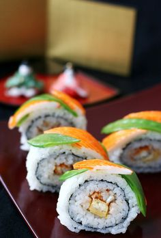 Japanese sushi rolls