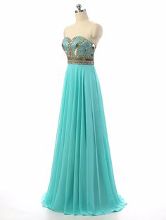 Long Prom Dresses 2017 Sweetheart Sexy Chiffon Sleeveless Floor Length Formal Evening Party Gowns Special Occasion. Click visit to buy #PromDress #Dress