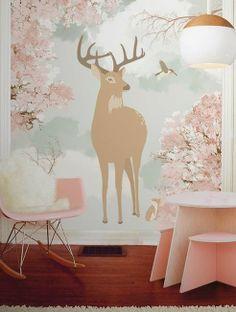 little hands: Little Hands Wallpaper Mural - Little Deer