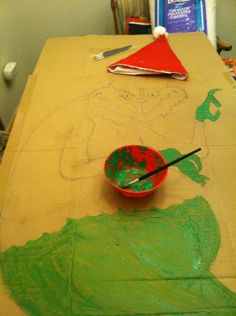 The grinch, in process