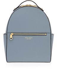 Henri Bendel West 57th Backpack ($298) ❤ liked on Polyvore featuring bags, backpacks, dk grey, grey bag, zip handle bags, handle bag, gray backpack and henri bendel bags