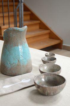 Raku ceramic bowls made by Basia Pociecha