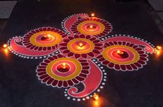 Rangoli Design Ideas & Images For Diwali & Happy New Year Here you will get Happy Deepavali Rangoli Design idea to draw. Indian Rangoli Designs, Rangoli Designs Latest, Simple Rangoli Designs Images, Rangoli Designs Flower, Rangoli Border Designs, Colorful Rangoli Designs, Beautiful Rangoli Designs, Latest Rangoli, Easy Rangoli Designs Diwali