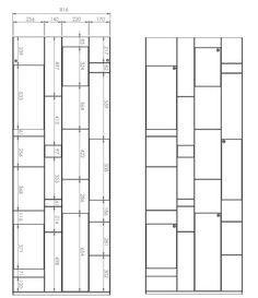 Librería composable abierta de MDF RANDOM BOX by MDF Italia diseño Neuland Industriaedesign