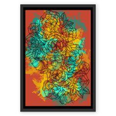 Poster :: Robot Flowers :: de @jurumple | Colab55