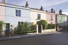Colourful Terraced Houses Thanks To Weathershield Paint Colours Used Are Liberty Blue 6 Smooth