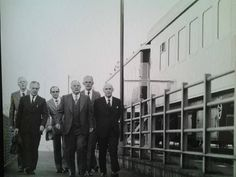 Meeting in a railcar on the Victoria Falls bridge 1975 - the South African delegation arrives