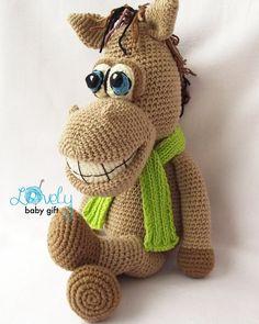 Amigurumi Pattern Horse Crochet Pattern Stuffed by LovelyBabyGift