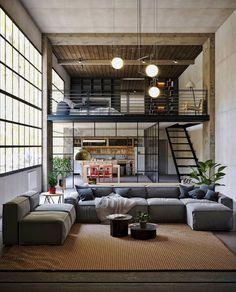 Loft House Design, Loft Interior Design, Small House Design, Interior Architecture, Luxury Interior, Modern Interior, Interior Decorating, Decorating Ideas, Loft Interiors