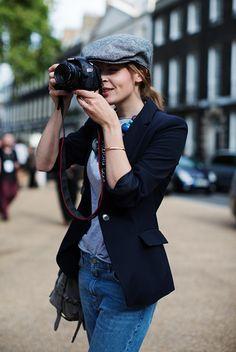 Tweed cap jacket Mode Fashion
