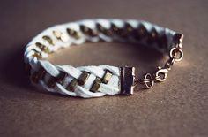 Rotkehlchen: DIY Series: Hardware Jewellery // Braided Nuts Bracelet