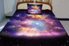 Galaxy quilt cover galaxy duvet galaxy sheets space by Tbedding, $138.00