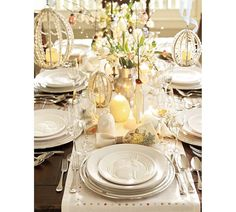 Pretty Yellow Easter Table