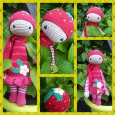 Strawberry mod made by Arina G. / based on a lalylala crochet pattern