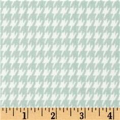 Premier Prints Houndstooth Twill Powder Blue/White -- kennel cover