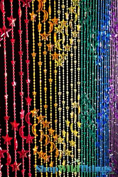 """35"""" Wide x 70"""" Long: Our wonderful heavy-duty acrylic beaded curtains are a perfect addition to any room! Use in the place of regular doors, closet doors, or behind a bed to add height to any room! All"""