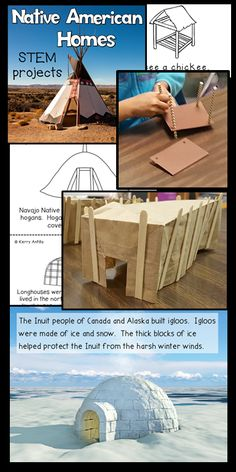 My Kindergarten students LOVED building models of Native American homes! They learned so much about climate, and natural resources just by comparing the different types of homes. This pack includes 4 STEM activities for building Native American Homes. Native American Lessons, Native American Projects, Native American History, American Symbols, American Indians, 3rd Grade Social Studies, Teaching Social Studies, Steam Activities, Science Activities